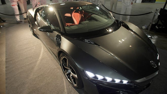 The Acura NSX at Marysville, Ohio, before the announcment that the supercar will be built at that plant.