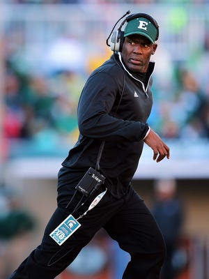 Eastern Michigan coach Ron English has lost 10 or more games in three of his four seasons with the Eagles.