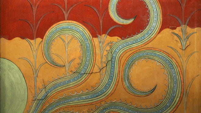 """A fresco from the """"Palace of Minos"""" in Knossos, Crete."""