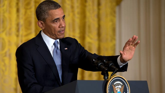 President Obama speaks at a news conference on May 13.