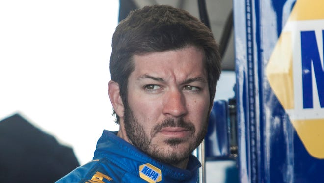 Martin Truex Jr. is shown during practice for the Toyota Owners 400 at Richmond International Raceway..