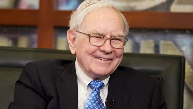 Warren Buffett during a television interview in Omaha, Neb., on May 6.