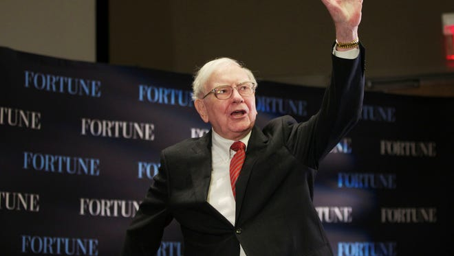 "Billionaire investor Warren Buffett speaks on the topic of ""Women and Work"" during a May 1 interview organized by ""Fortune"" at the University of Nebraska at Omaha."