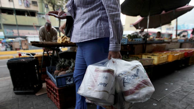 Venezuelans are stocking up on toilet paper when they can get their hands on it.