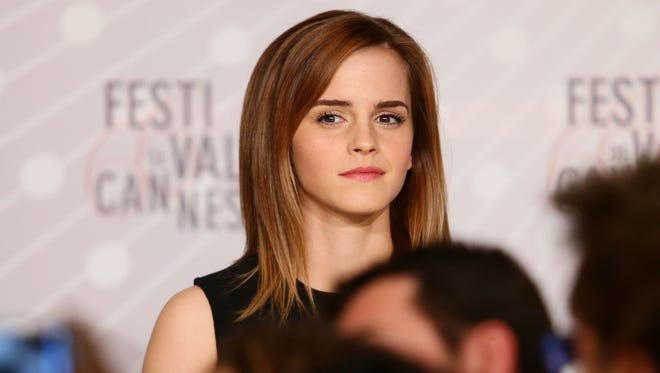 Emma Watson attends 'The Bling Ring' news conference on Thursday at Cannes.
