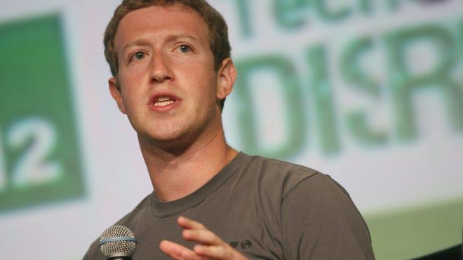 Facebook founder and CEO Mark Zuckerberg in 2012.