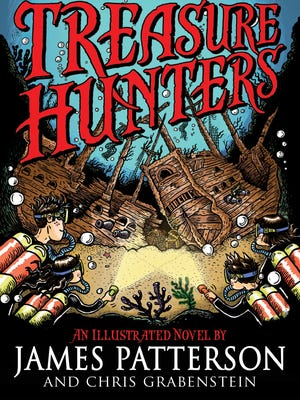 'Treasure Hunters' is James Patterson's new book for middle schoolers.