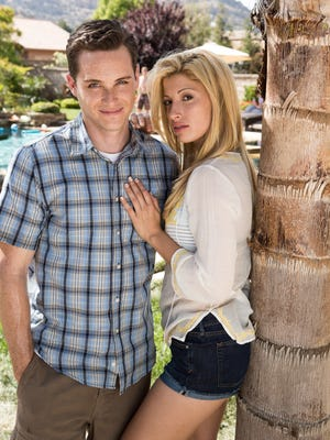 Tania Raymonde, right, plays Jodi Arias and Jesse Lee Soffer plays her victim, Travis Alexander, in Lifetime's upcoming movie, 'Jodi Arias: Dirty Little Secret.'
