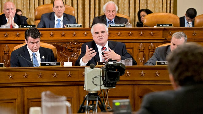 House Ways and Means Committee member Mike Kelly, R-Pa., on Friday questions the ousted head of the Internal Revenue Service, Steven Miller.