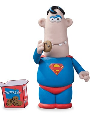 The Man of Steel is a man of sweets for the Aardman Superman figure available this July at San Diego Comic-Con.