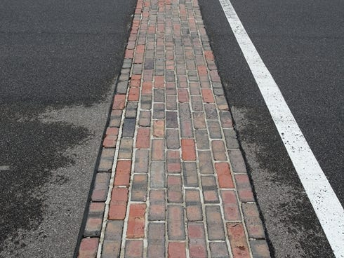 General view of the yard of bricks taken during pole day for the 2013 Indianapolis 500 at Indianapolis Motor Speedway.