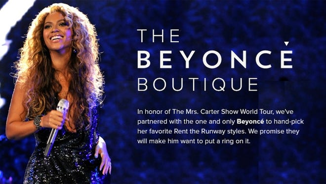 """Beyonce opens a new """"boutique"""" at Rent the Runway."""