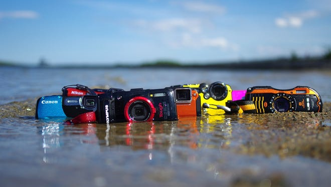 A selection of the waterproof cameras available in 2013