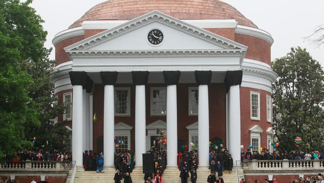 The University of Virginia's Rotunda during Final Exercises Sunday, May 19, 2013. The school launched its first crowdfunding site earlier this month.