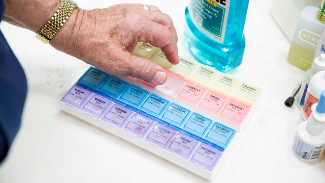 A medication case.