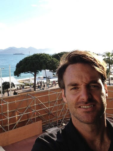 "Will Forte began taking photos even in his first moments on his Carlton Hotel room balcony. ""That's beautiful Cannes and what they call the Croissette.""<br />""These are all experiences I never thought I would have,"" he adds. One experience he wanted to forget: The airlines lost his luggage with his carefully planned outfits (and underwear), causing temporary panic."