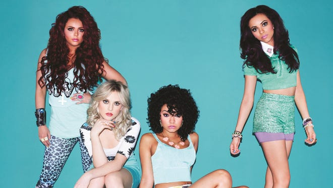 Little Mix, from left, Jesy Nelson, Perrie Edwards, Leigh-Anne Pinnock, Jade Thirlwall.