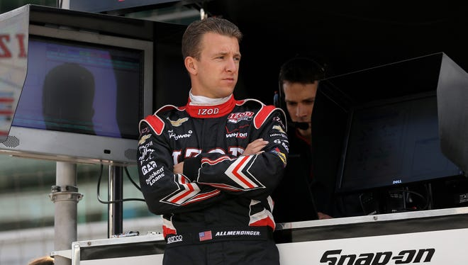 A.J. Allmendinger started fifth and finished seventh Sunday in his first Indianapolis 500.
