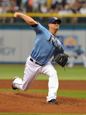 Pitcher Alex Cobb and the Tampa Bay Rays extended CC Sabathia's winless streak to five games Sunday.