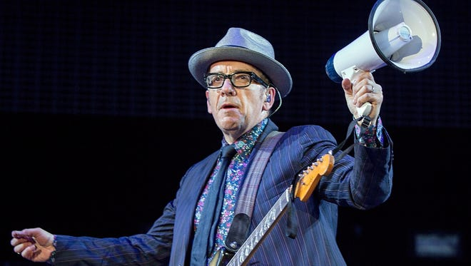GEORGE, WA - MAY 26:  Elvis Costello performing live at the Sasquatch Music Festival at The Gorge on May 26, 2013 in George, Washington.  (Photo by Suzi Pratt/WireImage) ORG XMIT: 169026787 ORIG FILE ID: 169543871