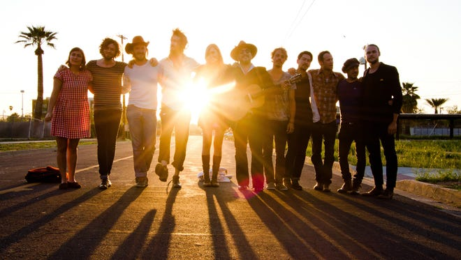 The folk-rock group Edward Sharpe and the Magnetic Zeros.