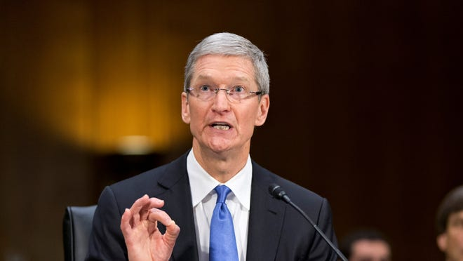 Apple CEO Tim Cook testifies on Capitol Hill in Washington on May 21.