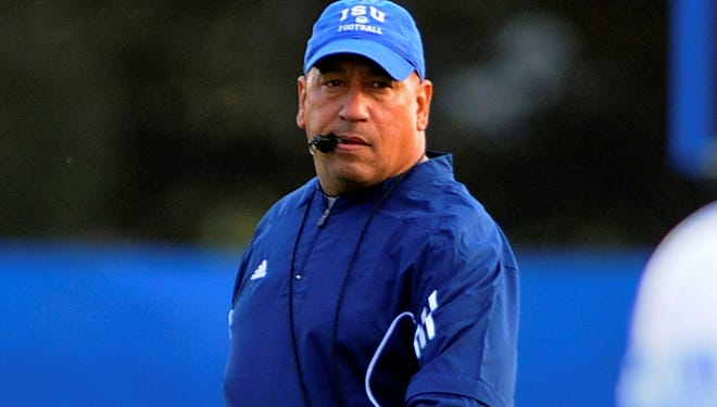 Indiana State head coach Trent Miles watches his team during NCAA college football practice, Wednesday, Oct. 17, 2012, in Terre Haute, Ind. Indiana State is scheduled to play Western Illinois Saturday. (AP Photo/The Tribune-Star, Jim Avelis) ORG XMIT: INTET103