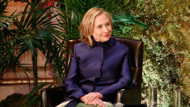 Former secretary of State Hillary Rodham Clinton attended a dinner at the Plaza Hotel in New York City earlier this month.