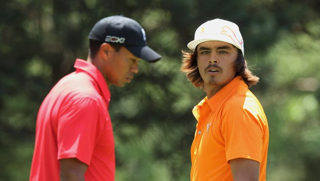 Rickie Fowler played in the final group at the Memorial a year ago with Tiger Woods, who won the tournament.