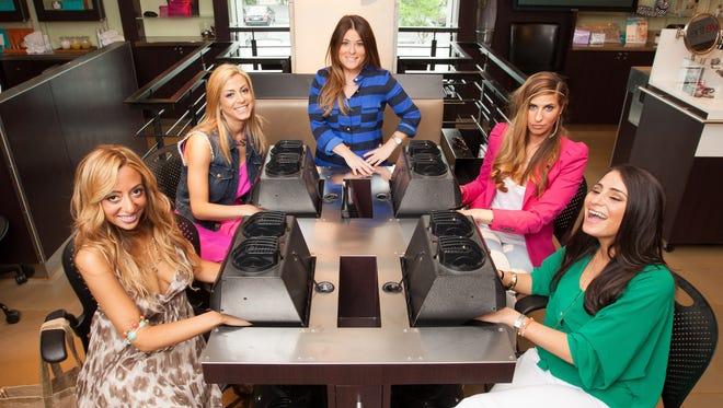 Amanda Bertoncini, left, Casey Cohen, Ashlee White, Chanel (Coco) Omari, and Erica Gimbel are the cast of Bravo's 'Princesses: Long Island.'