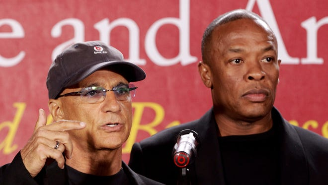 Jimmy Iovine, left, and Dr. Dre.
