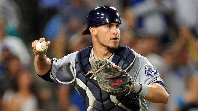 Padres catcher Yasmani Grandal served a 50-game suspension for a positive testosterone test.