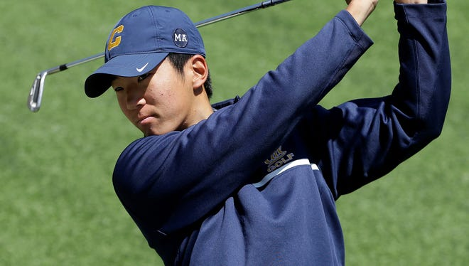 Top-ranked Michael Kim, seen in this file photo, and California were in fifth place after the first round.