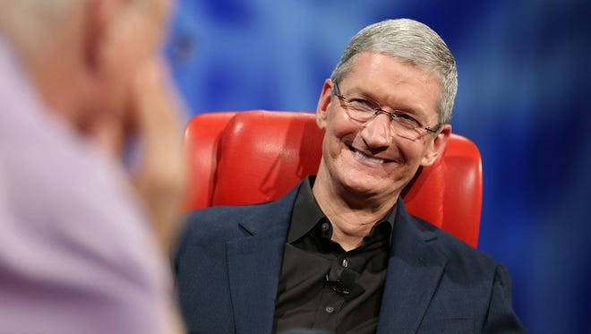 Apple CEO Tim Cook on stage at the All Things Digital conference.