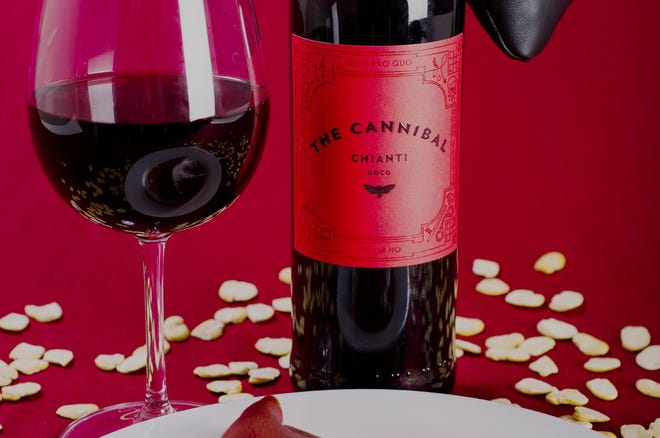The Cannibal Chianti is one of two new wines inspired by 'The Silence of the Lambs.'