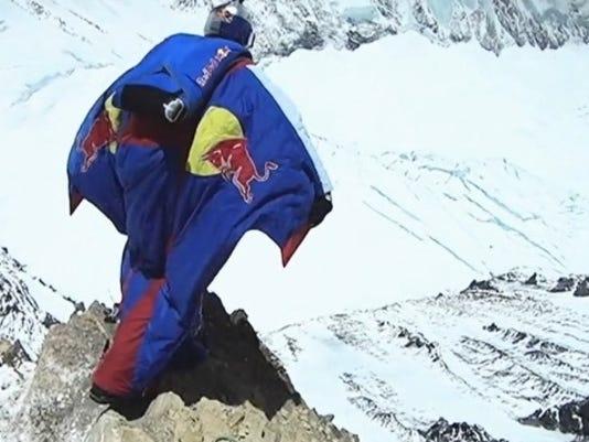 Valery Rozov base jump Mt. Everest