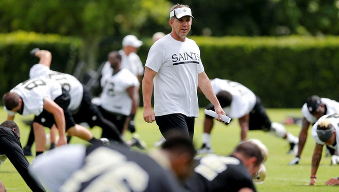 Sean Payton is once again closely overseeing the Saints.