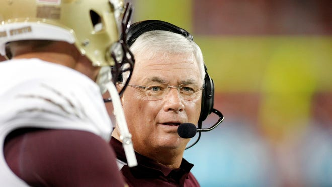 Texas State moves to the Sun Belt Conference while coach Dennis Franchione searches for answers on defense and at quarterback.