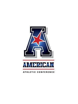 The new American Athletic Conference's vertical logo. The conference begins play this fall.
