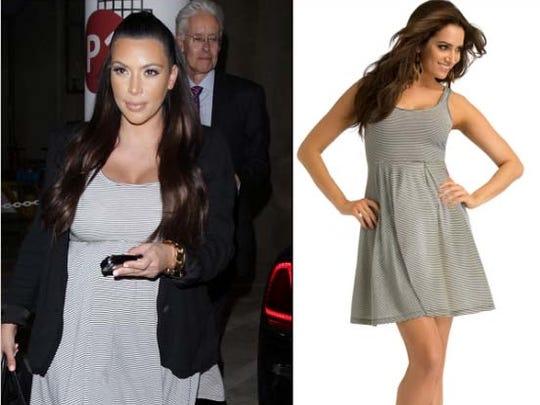 2d748d1f388 Kim Kardashian. Kim Kardashian s breezy dress is from her own Kardashian  Kollection