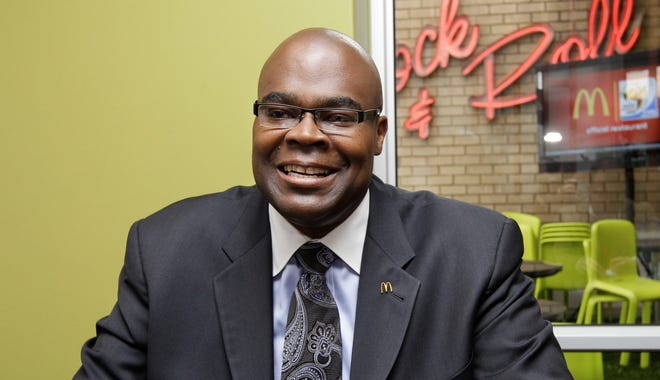 McDonald's CEO Don Thompson says he's lost weight even though he's continued to eat McDonalds every day (AP Photo/Yves Logghe, File)