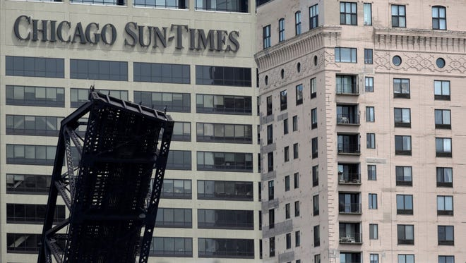 The 'Chicago Sun-Times' building on May 30, 2013, in Chicago.