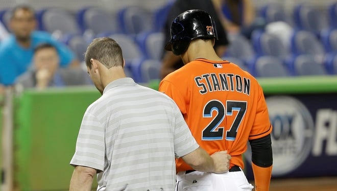 Giancarlo Stanton was hitting .227 with three home runs and nine RBI before landing on the DL.