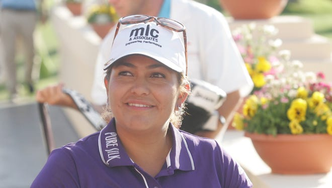 Lizette Salas, shown here at the Kraft Nabisco Championship, has made a lot of noise this year on the LPGA tour.