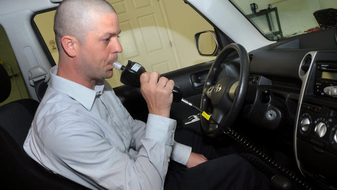 Peter Andrews of Monitech Ignition Interlock Systems demonstrates how to use the ignition interlock in April.