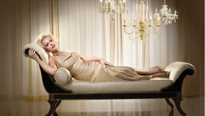 Agnes Bruckner portrays Anna Nicole Smith for Lifetime's original movie, airing June 29.