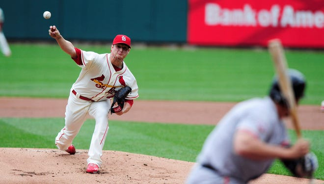 Cardinals starter Shelby Miller pitched seven shutout innings in the 8-0 win over the Giants.