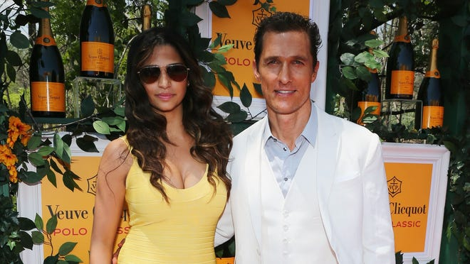 Couple Camila Alves and Matthew McConaughey swing by the annual Veuve Clicquot Polo Classic on June 1, 2013 in Jersey City.