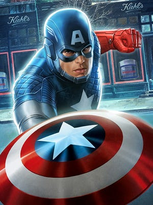 The star-spangled Avenger's latest adventure takes place in the historic Kiehl's store in a special Captain America comic book.