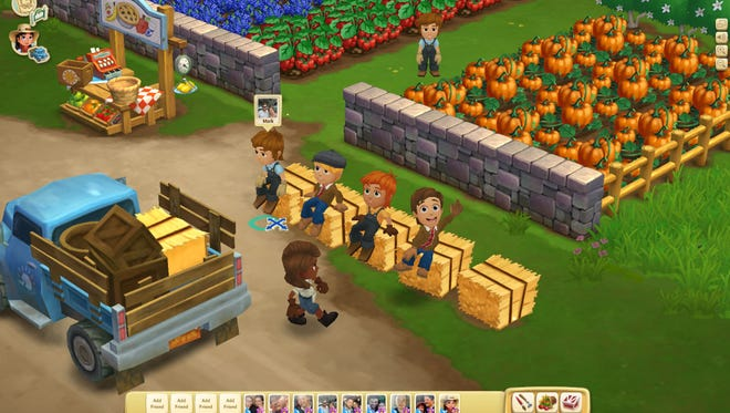 "This undated image provided by Zynga shows a screenshot of Farmville 2, announced on Wednesday, Sept. 5, 2012. Not Long ago, online games company Zynga looked on pace to unseat much bigger, well-established rivals as it rode the popularity of ""FarmVille,"" the clicking game of virtual cows and real money. But the iPad came along, and more people bought smartphones."